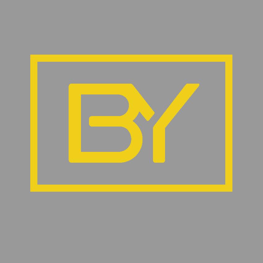 Icono biyectiva amarillo fondo gris