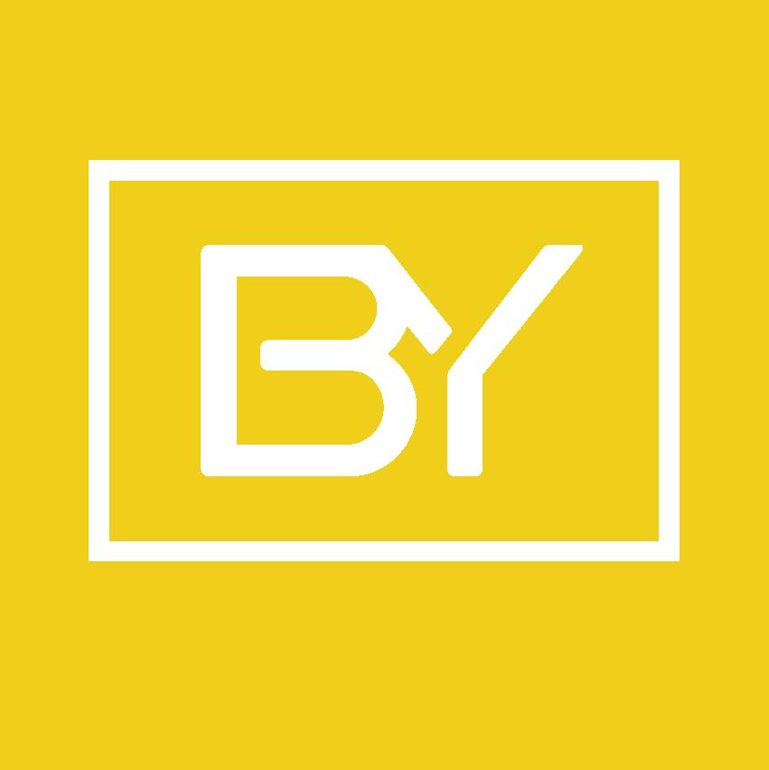 Icono biyectiva blanco fondo amarillo
