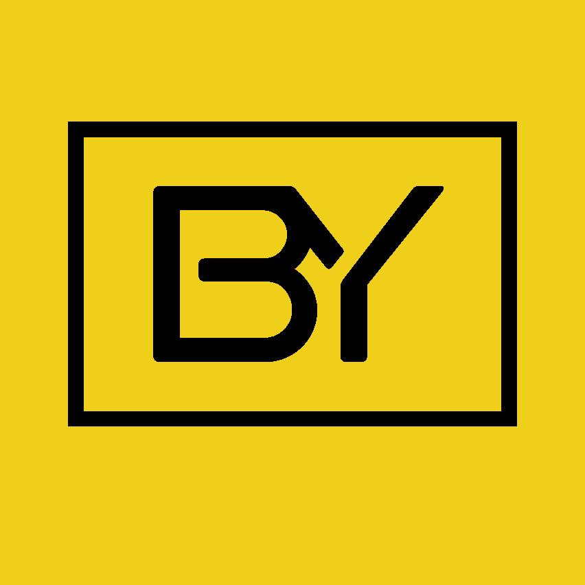 Icono biyectiva negro fondo amarillo